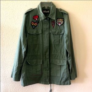 Bsweet Green Utility Patches Jacket